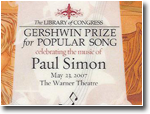 Paul Simon - Gershwin Prize - 2007